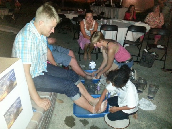 Foot Washing at the Summit