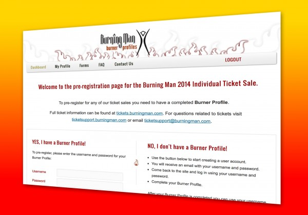 2014 Burning Man Tickets Pre-Registration Now Open!