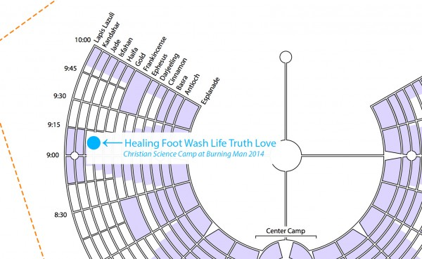 2014 Burning Man Placement for our camp